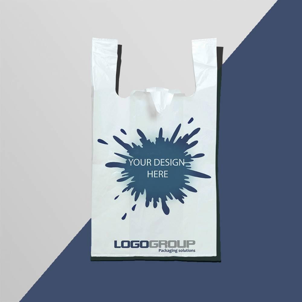 T-shirt bag with logo