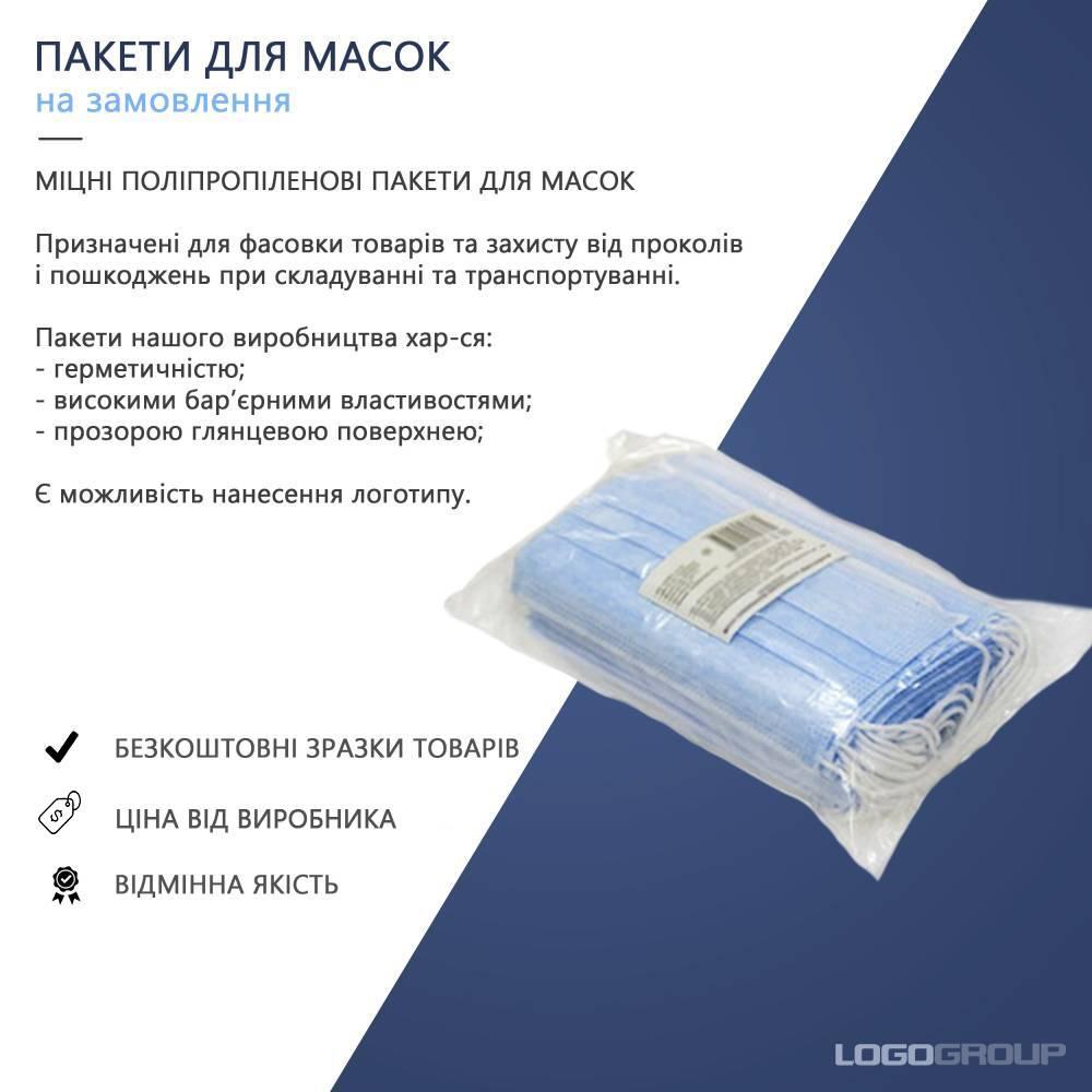 Plastic packaging for masks
